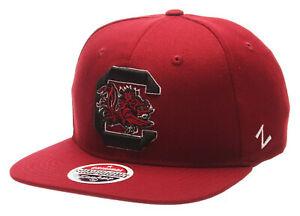 SOUTH-CAROLINA-GAMECOCKS-NCAA-Z11-ADJUSTABLE-GARNET-SNAPBACK-ZEPHYR-CAP-HAT-NEW