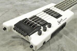 Steinberger-Spirit-XT-25-White-5-string-Headless-Electric-Bass
