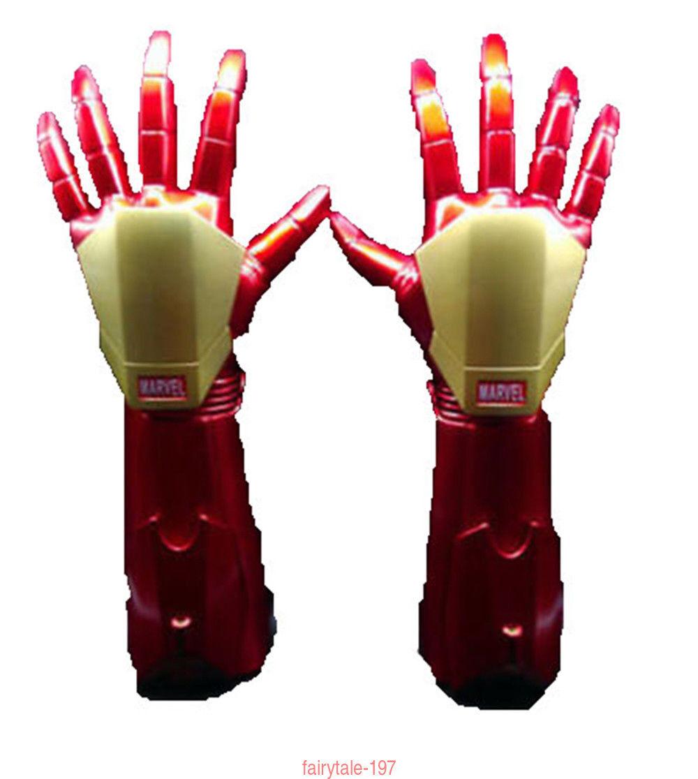 the avengers  iron man  stark film arm handschuhe mit led - leuchte modell spielzeug cosplay - mode