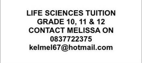Life Sciences Tuition