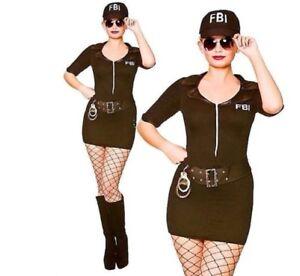Ladies-Sexy-LA-Cop-Fancy-Dress-Costume-Hen-American-Police-Outfit-FBI-6-20