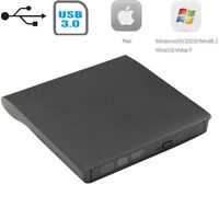 Usb3.0 External Dvd-rw Dvd-rom Cd±r Read Writer Burner Drive Ultra Slim Portable