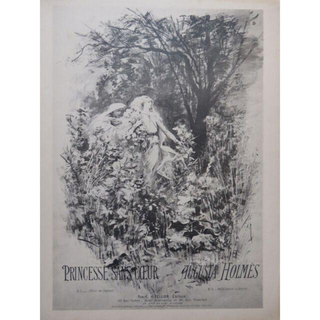Holmes Augusta die Prinzessin ohne Herz chant Piano ca1900 Partitur Sheet Music
