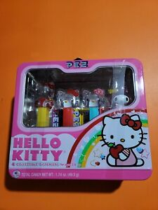Hello Kitty Pez Dispensers, Set of 4 with Candy and Lunch Box Tin, Sanrio New