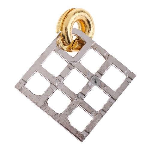 2Pcs Bronze Alloy Lock Puzzles Denksportaufgaben oder Kinder Intelligenz
