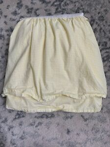 Pottery Barn Kids Yellow And White Gingham Checkered Bed