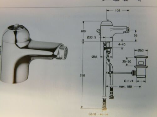 Bidet-Einhebelmischer Bidetarmatur Weiss Ablaufgarnitur RAL 9010