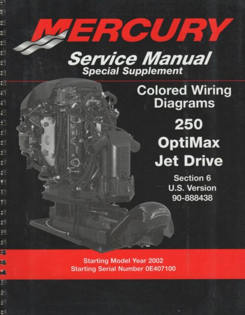 2002 Mercury Service Manual Special Supplement Wiring Diagrams 250 Optimax  896