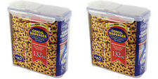 2 X Lock and & Lock Plastic Cereal Dispenser 3.9L HPL951 PACK OF 2!