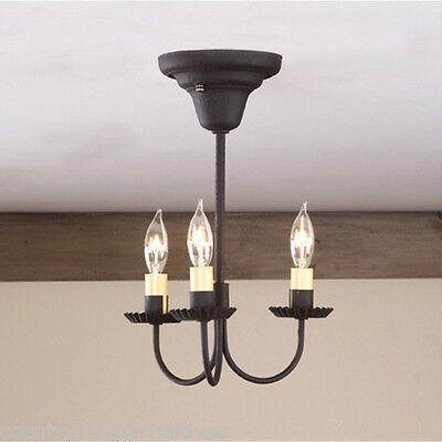 Tinware 3 Arm Primitive Ceiling Light