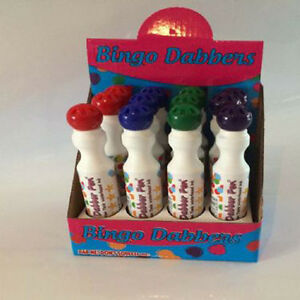 Blue Purple Green Arts and Crafts Projects Kids Lucky Bingo Dabber Pen Red