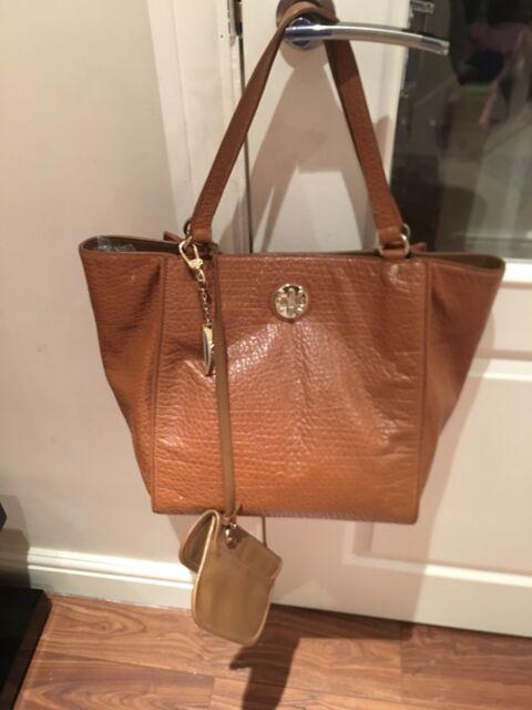 DKNY Ladies Tan Leather Tote Bag