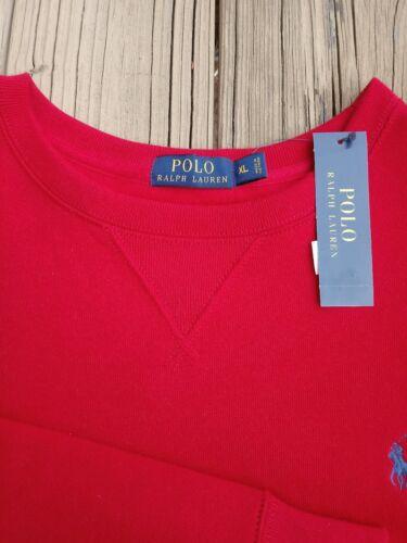 con rojo Polo Nwt redondo suéter Pony Ralph Blue cuello Xl Lauren de wfaftxO8q