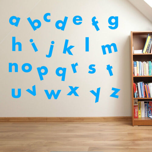 Nurserie Enfants Lettres Alphabet A à Z Écrire Autocollant Mural Enfant A7
