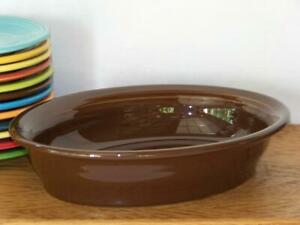 Fiesta-CHOCOLATE-Small-Oval-Bowl-Vegetable-Bowl-Discontinued-Color