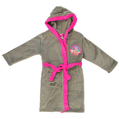 Official Licensed JoJo SIWA Grey Hooded Dressing Gown House Coat Age 4-13 Years