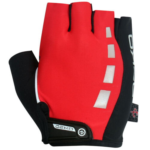 Half Finger Cycling Gloves Fingerless Mitts Bike Riding Bicycle Sports Red GELX