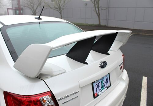 "/""In Stock/"" Two Perrin Wing Spoiler Stabilizer for 2011-2014 Subaru STI 4dr Sedan"