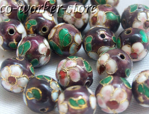 100 50 10pcs 8 10 12mm round filigree enamel cloisonne spacer loose beads