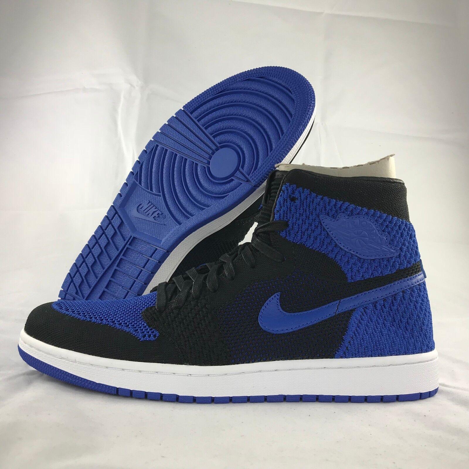 Nike Air Jordan 1 Retro HI Flyknit Royal bluee Black 919704-006 Men's 10.5-12
