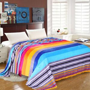 Fleece-Throw-Soft-Blanket-Cuddle-Large-Bed-Sofa-Couch-Bedsure-Warm-Snug-Rainbow
