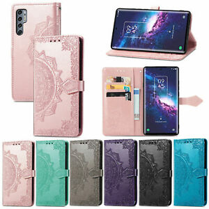 For TCL 20 Pro 5G Leather Wallet Case Mandala flower