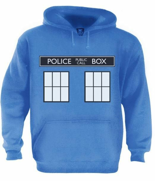 Doctor Who Tardis Police Box Hoodie Unisex Zipper Jacket Casual Slim Outswear