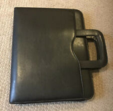 Day Timer Faux Leather Black Portfolio Briefcase 3 Ring Organizer Withhandle
