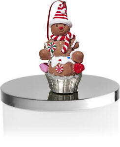 NEW-Gingerbread-Man-Cupcake-3-Wick-Candle-Magnet-Topper-Bath-amp-Body-Works