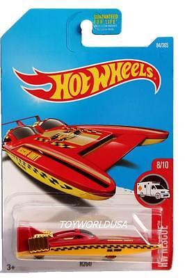 H2GO #184✰green//yellow boat;FIRE DEPT✰HW RESCUE✰2017 i Hot Wheels case H//J