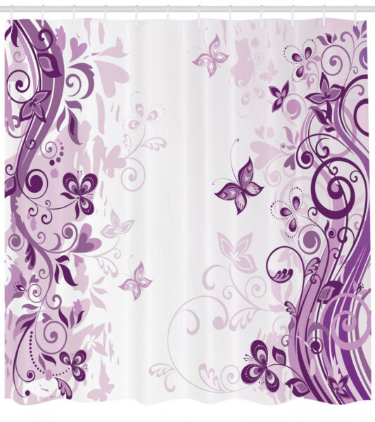 100% Kwaliteit Illustration Of Fairy Butterflies With Floral Patterns Decor Shower Curtain Set Gedistribueerd Worden Over De Hele Wereld