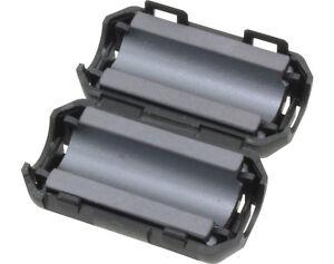Klappschalen-Ferritkern-2-Stueck-5-0mm-Ferritringe-zur-Entstoerung-NEU