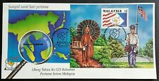 1992 Malaysia 125th Anniversary of Postage Mini-Sheet Stamp on FDC (KL Cachet)
