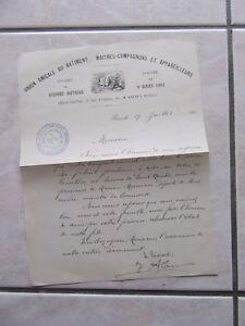 Mail Manuscript Companionship Maitres Companions 1890 Aid Mutual