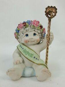 Dreamsicles Figurine Cherub Angel Baby August Cast Art Kristin 2000 KAD18