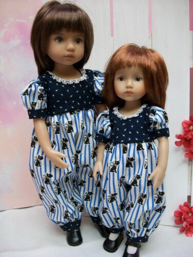 """10.5/"""" Boneka and 13/"""" Little Darling  PATTERN for Dresses Sisters #3 Rompers"""