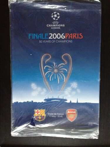 ARSENAL v BARCELONA BRAND NEW CHAMPIONS LEAGUE FINAL PROGRAMME 2006 SEALED