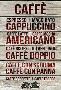 CAFFE-Cappuccino-divers-Tole-Bouclier-Bouclier-Tin-Sign-20-x-30-cm-fa0338