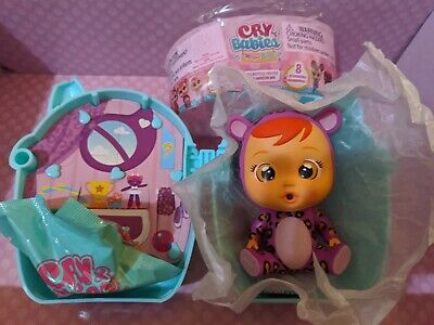OPENED but NEW!! Lala Mouse Cry Babies Magic Tears Bottle House Mini Doll .