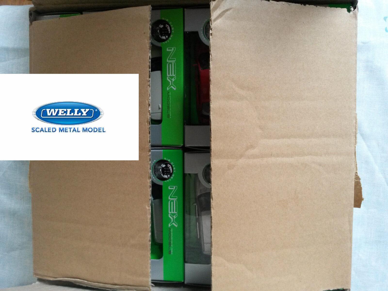 Mejor precio Caja de de de Cochetón con 36 coches de juguete Diecast Metal Welly 1 60 último caso en Caja   correo aéreo  minorista de fitness