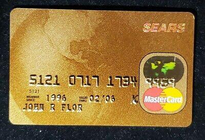 Sears Gold MasterCard credit card♡free ship♡cc8♡ eBay