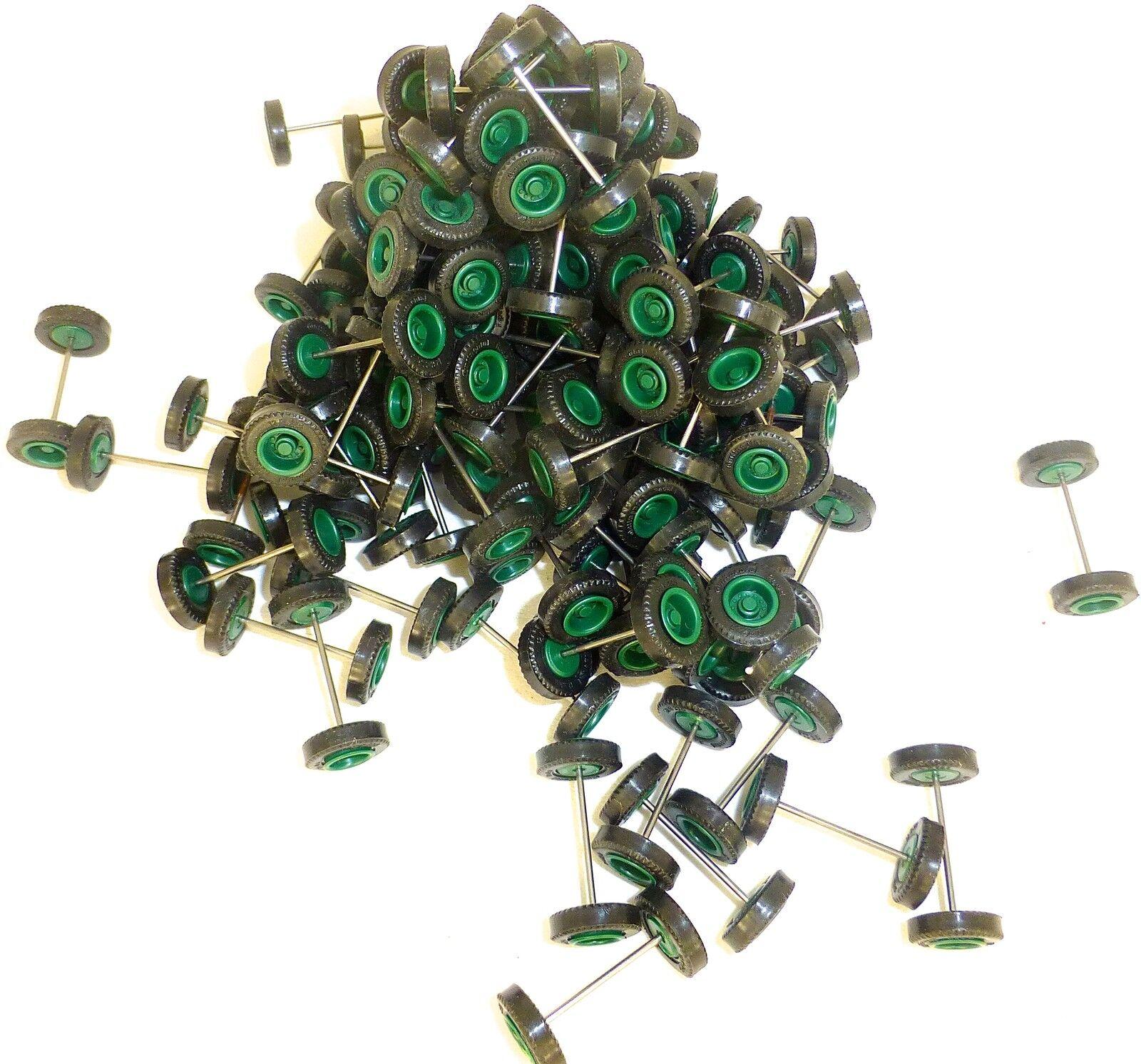 100 x Radsatz ca 26mm Achsbreite Felge green  Herpa Albedo 1 87 3801 å