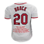 Lou-Brock-Stats-Signed-St-Louis-White-Baseball-Jersey-JSA thumbnail 1