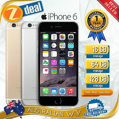 (NEW SEALED BOX) APPLE iPHONE 6 16GB 64GB 128GB 4G LTE FACTORY UNLOCKED + OZ WTY