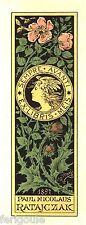 EX-LIBRIS de Paul Nicolaus RATAJCZAK par Julius Maess. 1897.