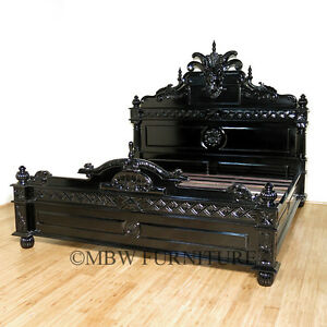 272091766527 further Rococo Antique Gold French Headboard also Ornate Four Poster Bed In Black And Silver 3626 P further King Arthur Baroque Bed as well 519884350706193779. on ornate carved bed headboards mahogany