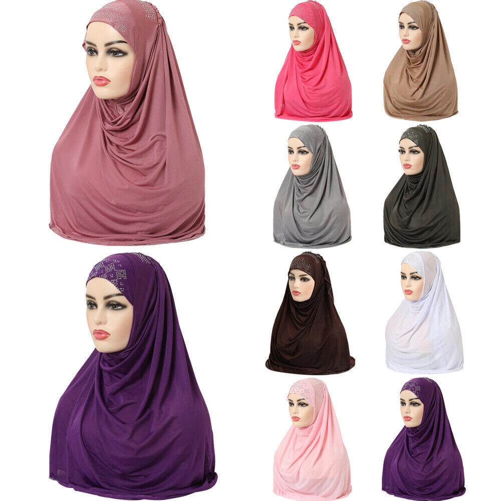 Muslim Women One Piece Amira Hijab Islamic Scarf Headscarf Hats Headwarp Cover