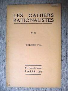 LES-CAHIERS-RATIONALISTES-N-52-1936-M-L-BARRABE-RADIESTHESIE-ET-GEOLOGIE