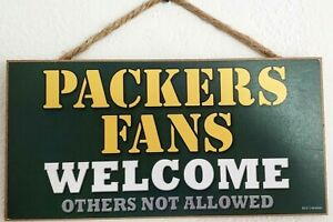 Green-Bay-Packers-Wood-Sign-Fans-Welcome-10-034-X-5-034