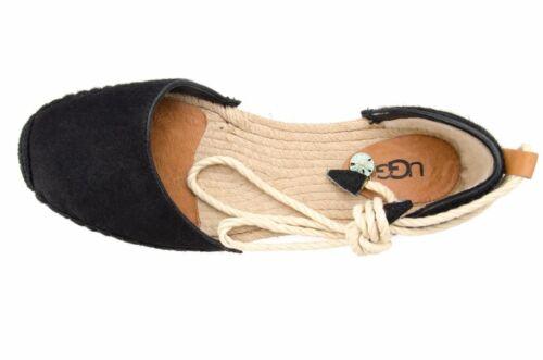 Libby 6 Hair 737045372440 D'orsay New Black Authentic Espadrille Australia Calf Ugg Flat 1ppwxU